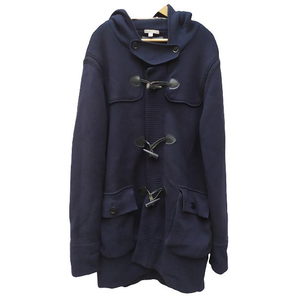 Burberry Blue Wool Coat