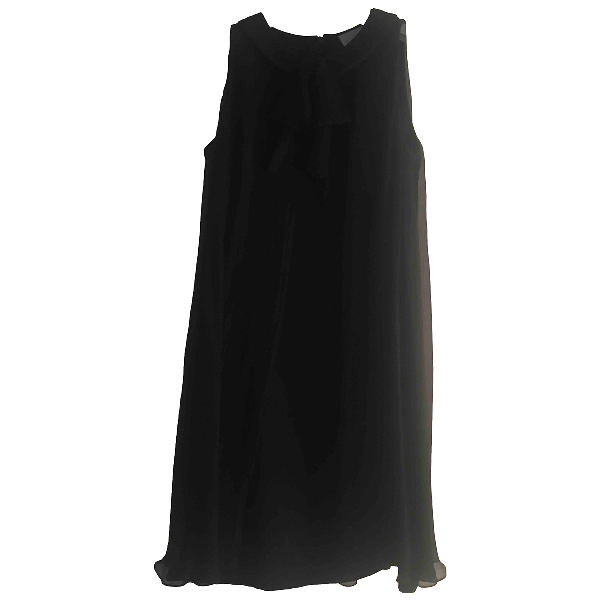 Luisa Beccaria Black Silk Dress