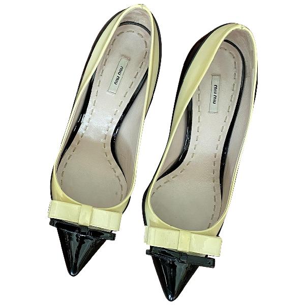Miu Miu Multicolour Patent Leather Heels