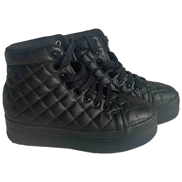 Jeffrey Campbell Black Rubber Trainers