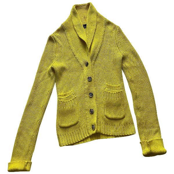 Theory Yellow Cotton Knitwear