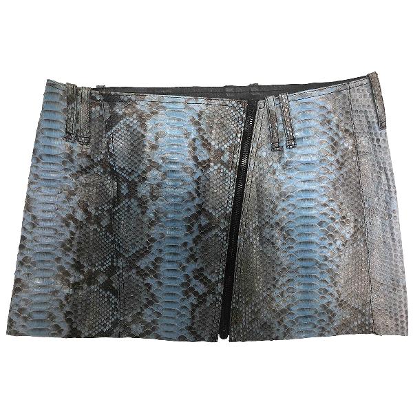 Plein Sud Leather Skirt