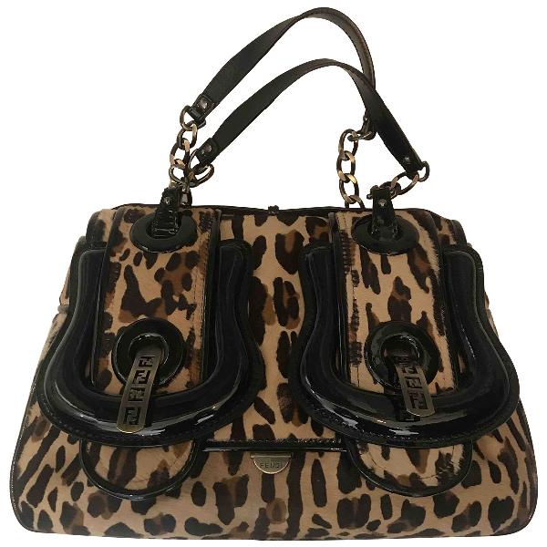 Fendi B Bag Pony-style Calfskin Handbag