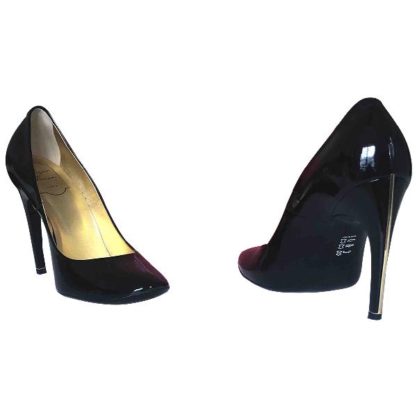 Roger Vivier Trompette Black Patent Leather Heels