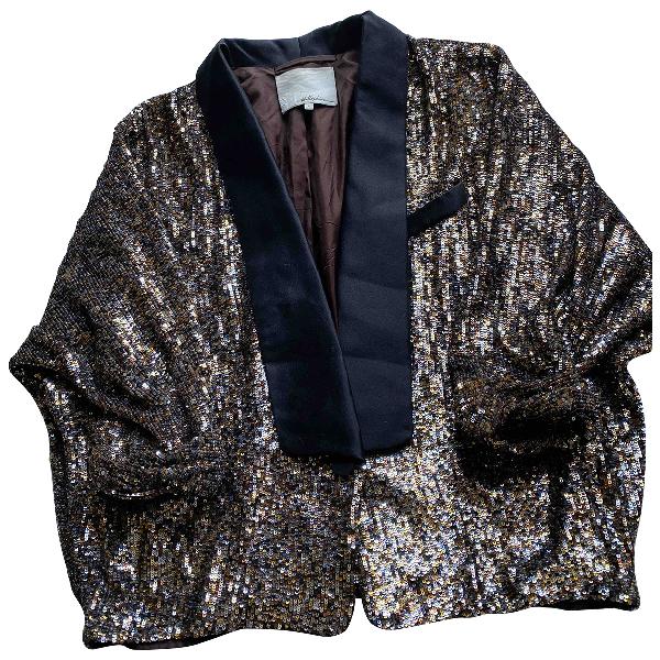 3.1 Phillip Lim Gold Glitter Jacket