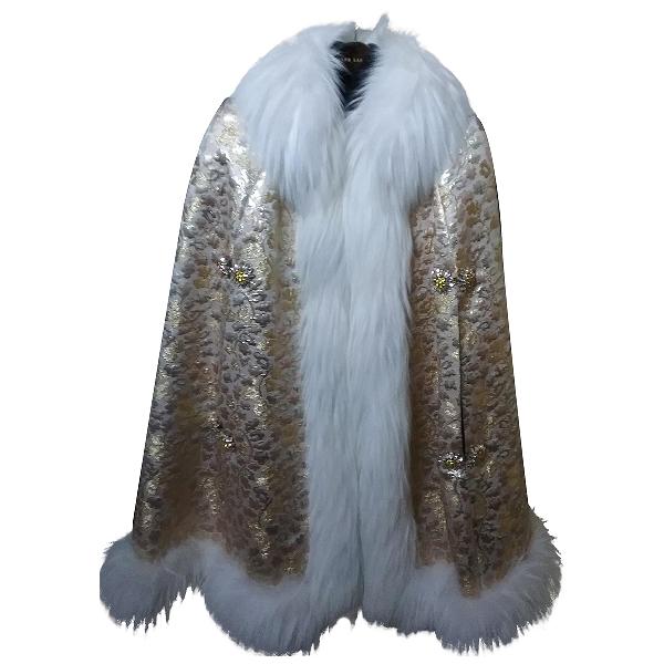 Dolce & Gabbana Gold Fur Jacket