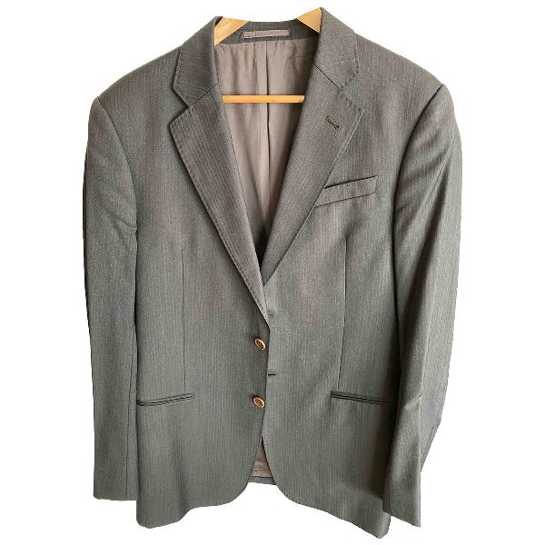Armani Collezioni Brown Wool Jacket