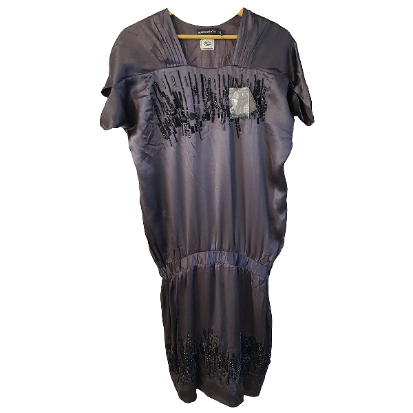 Antik Batik Grey Silk Dress