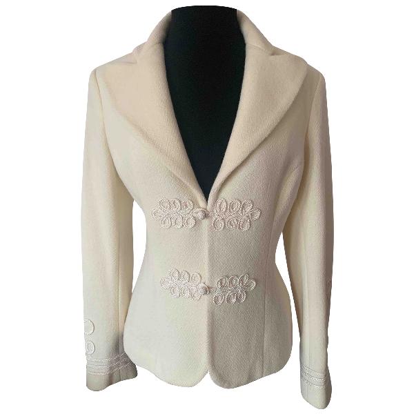 Lauren Ralph Lauren Ecru Wool Jacket
