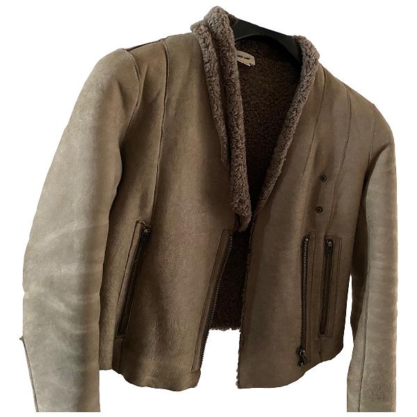 Helmut Lang Beige Leather Jacket
