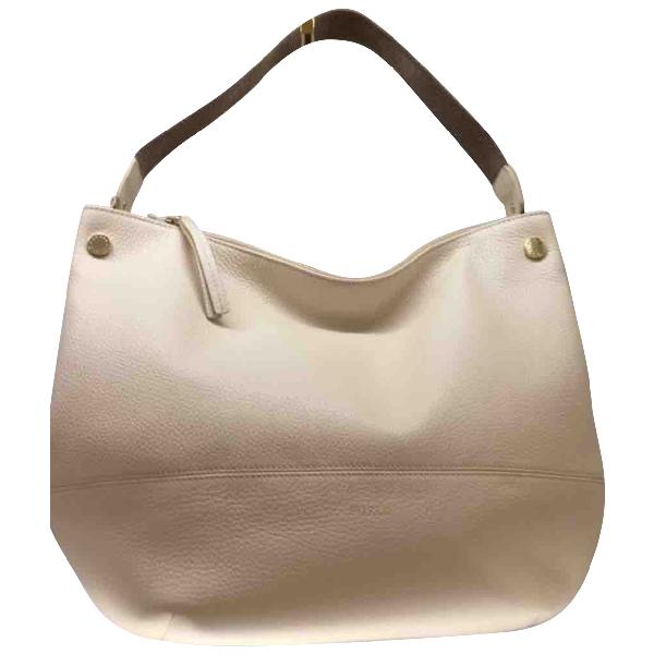 Furla White Leather Handbag