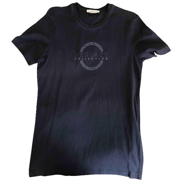 Versace Navy Cotton T-shirts