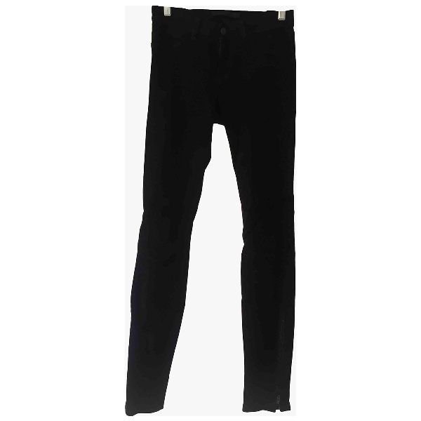 J Brand Black Suede Trousers