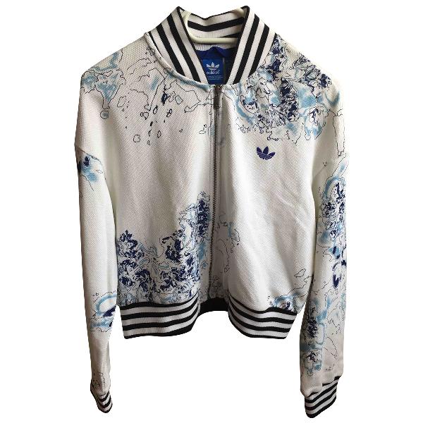 Adidas Originals White Cotton Jacket