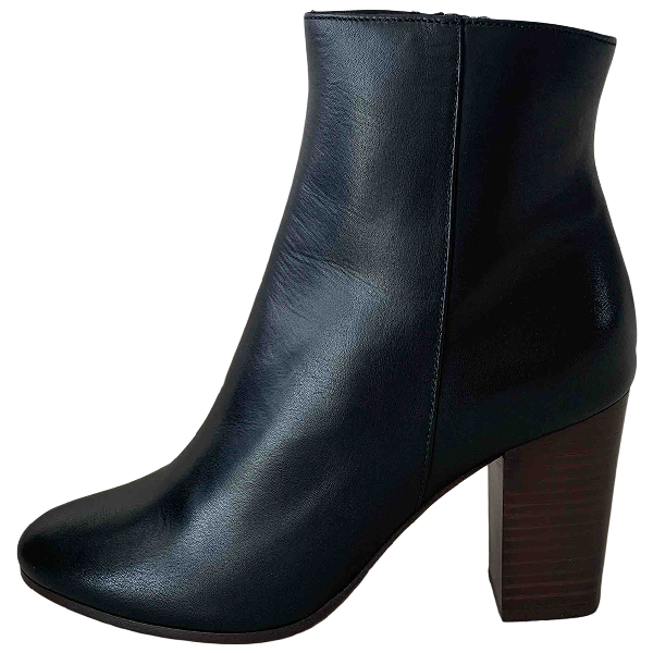 Maje Spring Summer 2020 Black Leather Ankle Boots