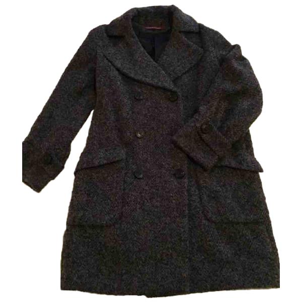 Comptoir Des Cotonniers Grey Wool Coat