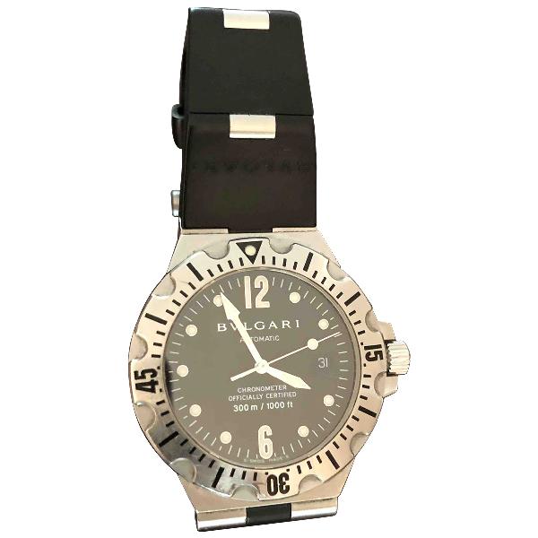 Bulgari Diagono Black Steel Watch