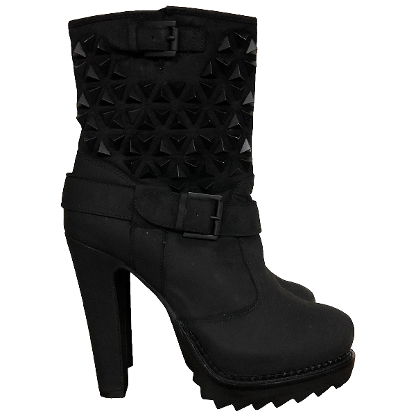 Ash Black Suede Ankle Boots