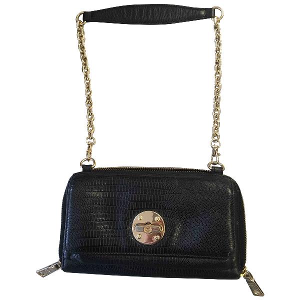 Dkny Black Leather Clutch Bag