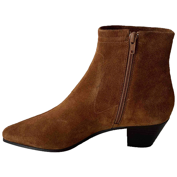 Maje Spring Summer 2020 Brown Suede Ankle Boots