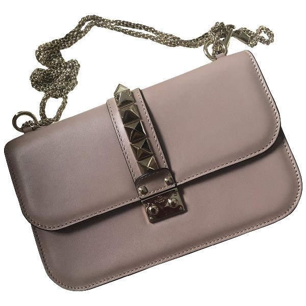 Valentino Garavani Glam Lock Pink Leather Handbag