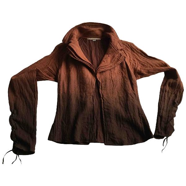 Roberto Cavalli Brown Silk Jacket