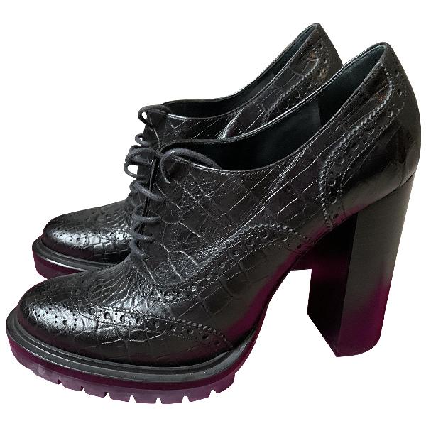 Etro Black Leather Heels