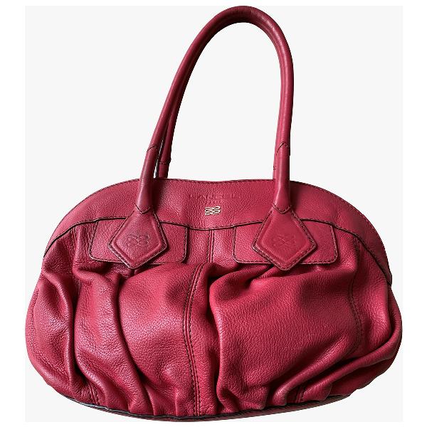 Lancel Pink Leather Handbag