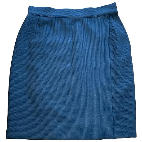 Versace Black Wool Skirt