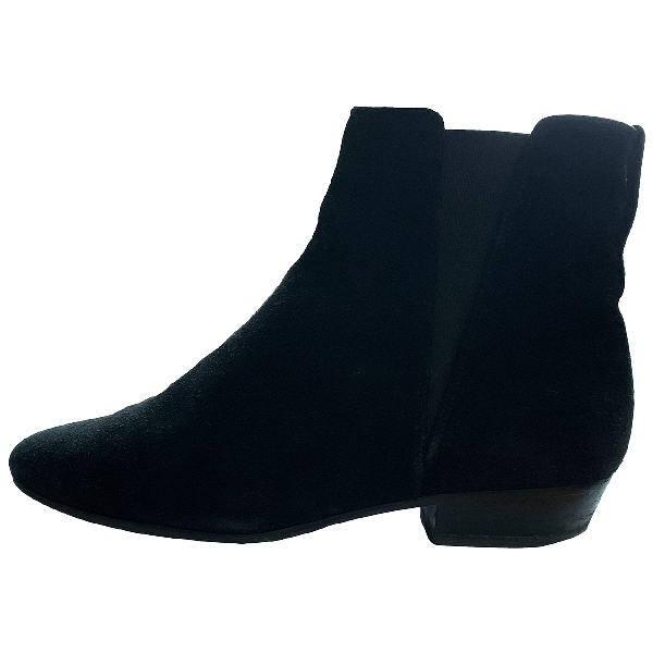 Isabel Marant Black Suede Ankle Boots