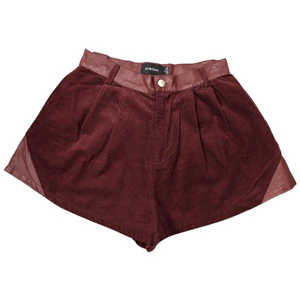 Minkpink Burgundy Cotton Shorts