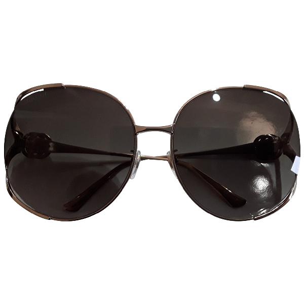 Gucci Grey Metal Sunglasses