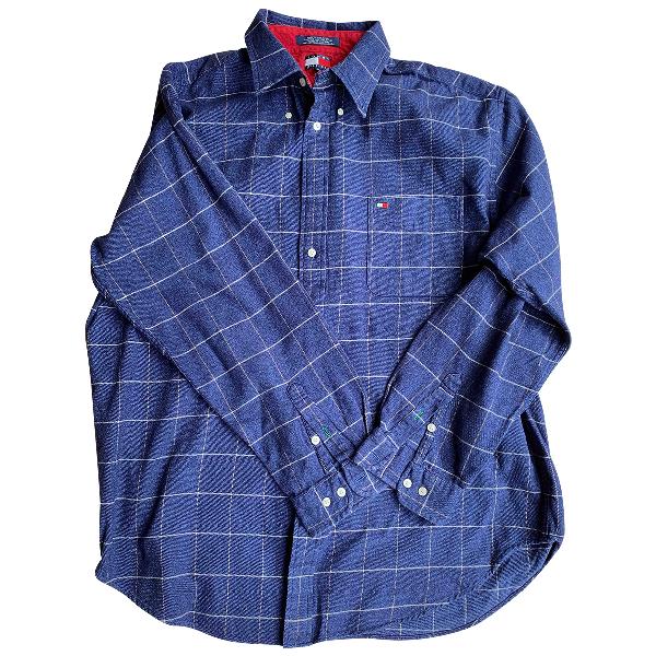 Tommy Hilfiger Blue Cotton Shirts