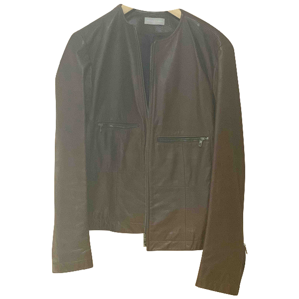 Nicole Farhi Brown Leather Jacket