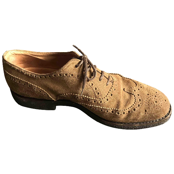 Church's Camel Suede Lace Ups