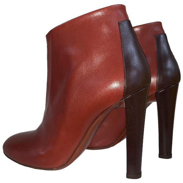 Michel Vivien Brown Leather Ankle Boots