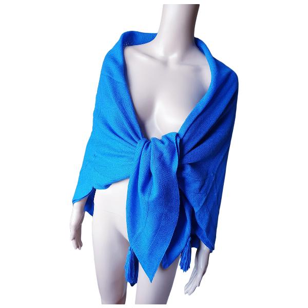 Guy Laroche Blue Wool Silk Handkerchief