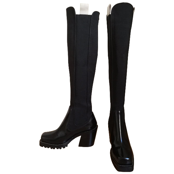 Louis Vuitton Limitless Black Leather Boots