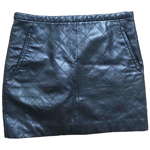 Sandro Black Leather Skirt