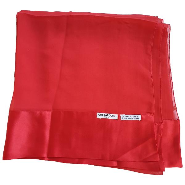 Guy Laroche Red Silk Scarf