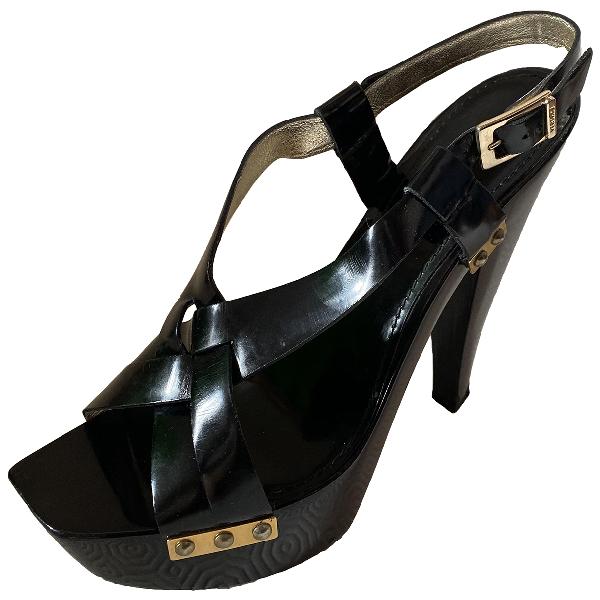 Versace Black Patent Leather Heels