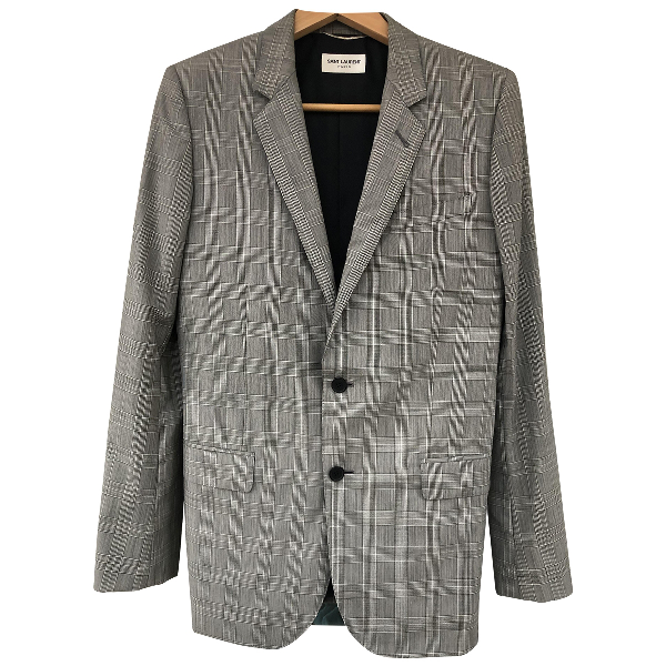 Saint Laurent Grey Wool Jacket