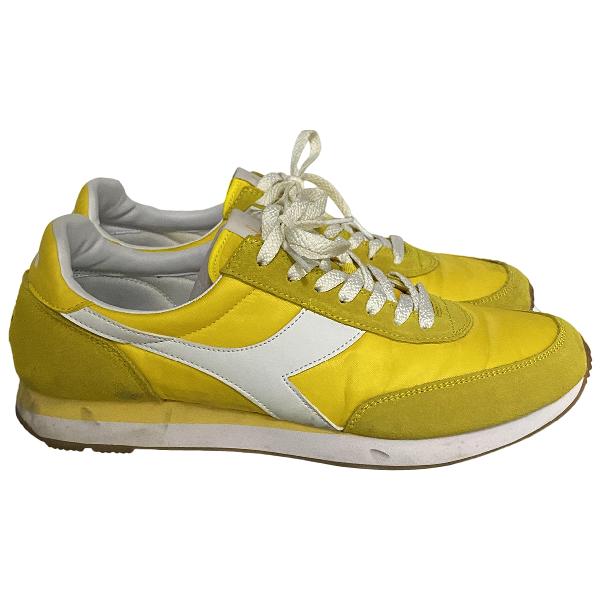 Diadora Yellow Cloth Trainers