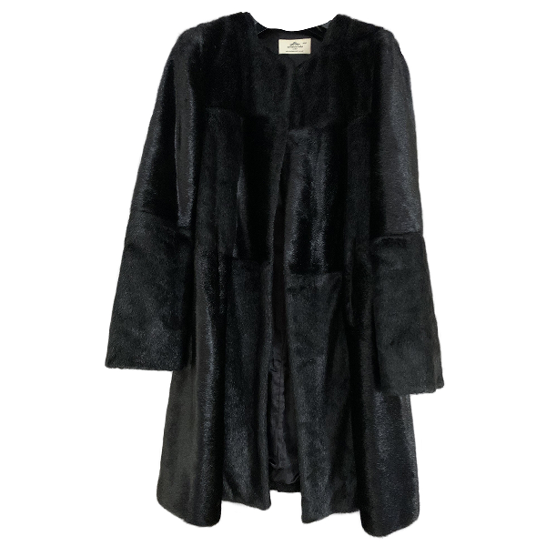 Urbancode Black Faux Fur Coat