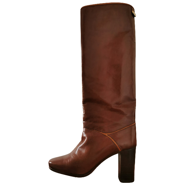 Pollini Brown Leather Boots