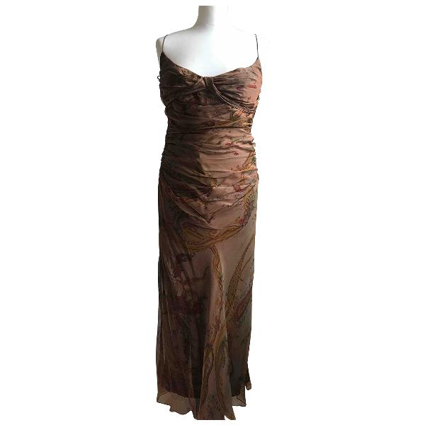 Ralph Lauren Brown Silk Dress