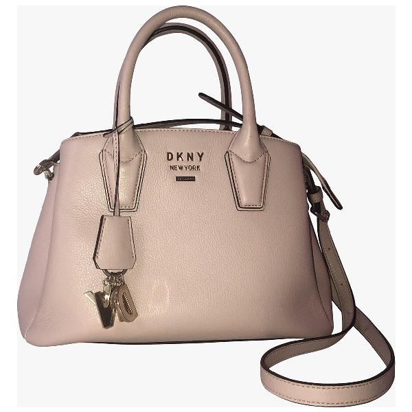 Dkny Pink Leather Handbag
