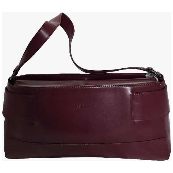 Furla Burgundy Leather Handbag