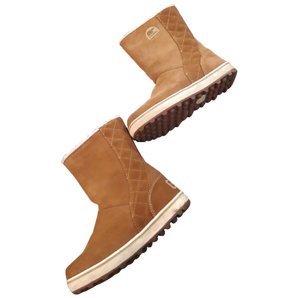 Sorel Camel Suede Ankle Boots