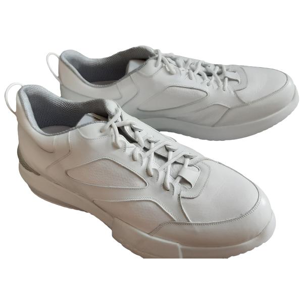 Giorgio Armani White Leather Trainers